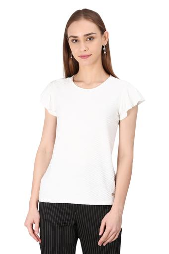 ALLEN SOLLY -  Off White Tops & Tees - Main