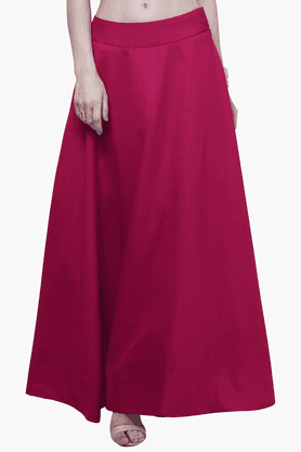 FABALLEY Womens Flared Maxi Skirt - 201560031