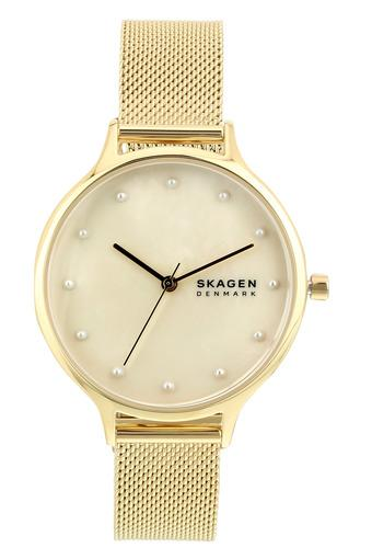 Womens Beige Dial Metallic Analogue Watch - SKW2774