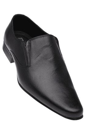 FRANCO LEONEMens Black Leather Formal Shoes