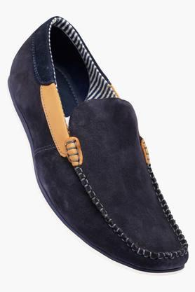 VETTORIO FRATINI Mens Leather Slip On Loafers