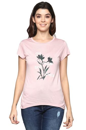 DISHA PATANI FOR GLAM LIFESTYLE -  Pink Tops & Tees - Main