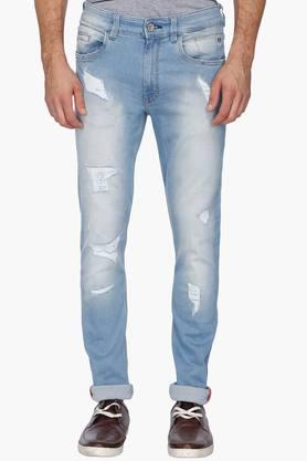IZOD Mens Slim Fit Distressed Jeans