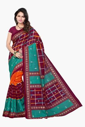 Women Bhagalpuri Art Silk Geometrical Printed Saree - 202447289