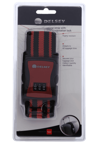 DELSEY Luggage Strap With 3 Digit Combination Lock