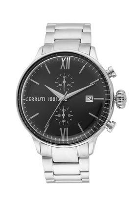 Mens Black Dial Stainless Steel Chronograph Watch - CRA178SN02MS