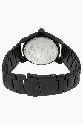 Mens White Dial Metal Strap Watch