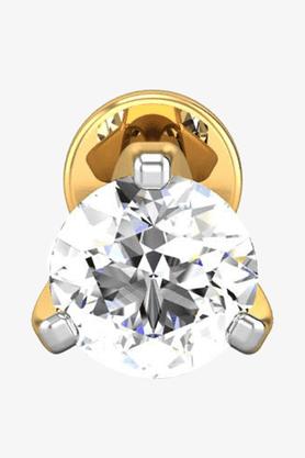 VELVETCASEWomens 18 Karat Yellow Gold Nose Ring (Free Diamond Pendant) - 201064984