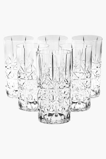 Cross Long Drink Glass Set of 6
