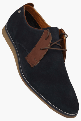 ALLEN SOLLYMens Lace Up Leather Casual Shoe