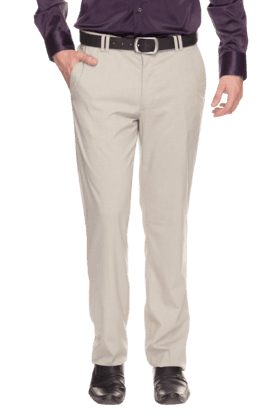 WILLS LIFESTYLE Mens Slim Fit Solid Formal Trousers - 200930516