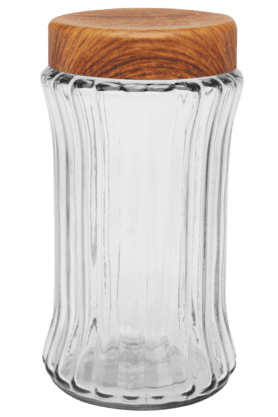 IVY Glass Canister With Plastic Lid - Large