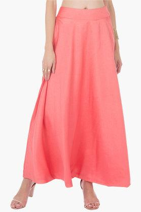 Womens Solid Long Skirt - 202498096
