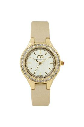 Womens White Dial Leather Analogue Watch - G2030-03