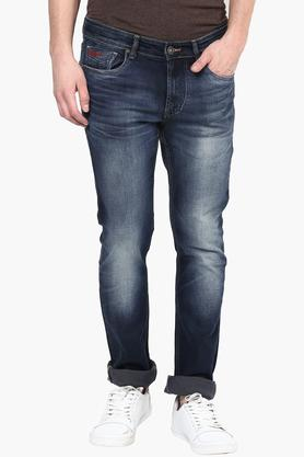 NUMERO UNOMens Tapered Fit Heavy Wash Jeans (Martin Fit)