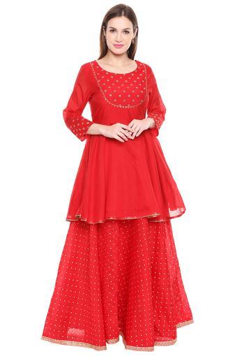 IMARA -  RedSalwar & Churidar Suits - Main