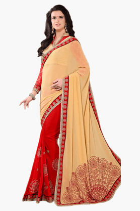 DEMARCA Womens Embroidered Saree - 201151774