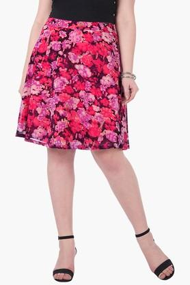 Womens Printed Knee Length Skirt - 202522920
