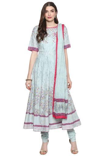 BIBA -  Sky BlueSalwar & Churidar Suits - Main