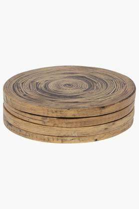 BACK TO EARTH Spun Bamboo Coasters (Set Of 4)