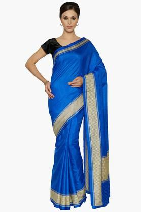 Women Royal Art Silk Saree With Printed Border