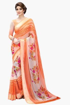 DEMARCAWomen Georgette Designer Saree - 202142782
