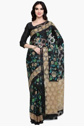 Womens Art Silk Brasso Saree With Blouse Piece