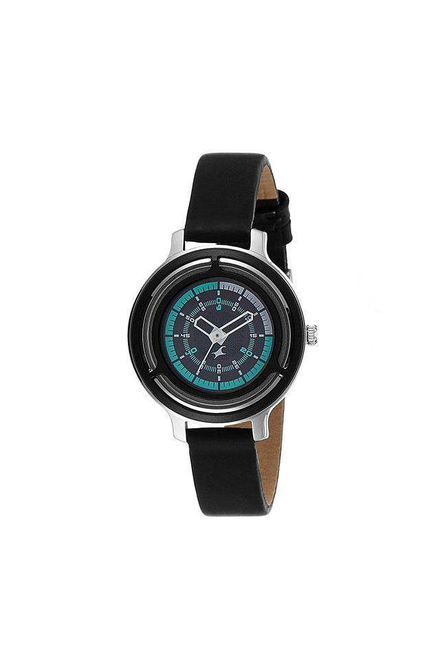 Womens Black Dial Leather Analogue Watch - NK6140KL01