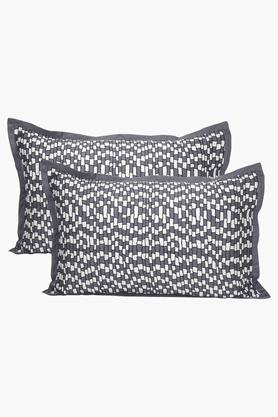 MASPAREthereal Spaces Benign Splendour Print Grey Pillow Cover - Set Of 2 - 201243796