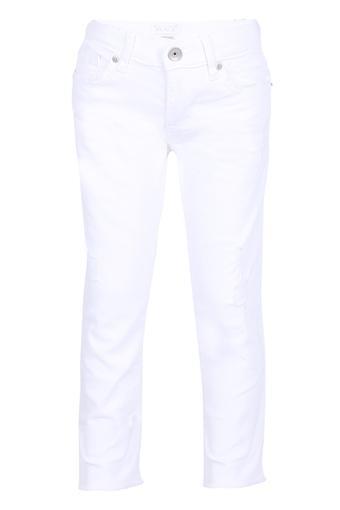Girls 5 Pocket Coated Jeans