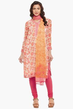 BIBA Womens Poly Cotton Straight Suit Set - 202179562