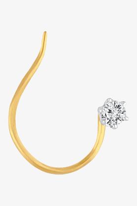 VELVETCASEWomens 18 Karat Yellow Gold Nose Ring (Free Diamond Pendant) - 201064972