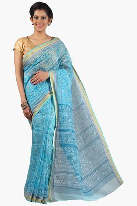 JASHN Women Super Net Printed Saree  ...