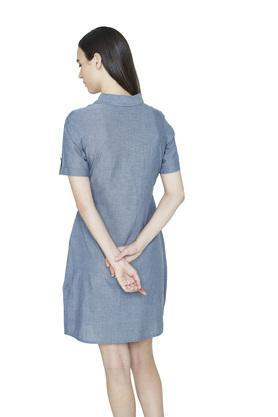 Womens Slub Shirt Dress