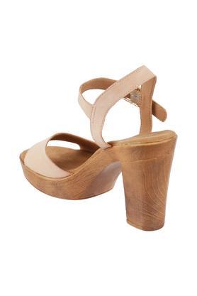 Womens Casual Wear Buckle Closure Block Heels