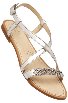 CLARKS Womens Ethnic Ankle Buckle Closure Flat Sandal