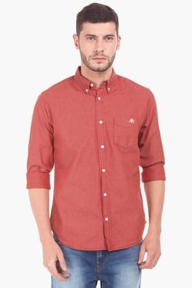 Aeropostale Formal Shirts (Men's) - Mens Regular Fit Slub Shirt