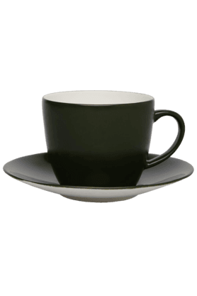 IVY Emerald Solid Cup & Saucer (Set Of 2)