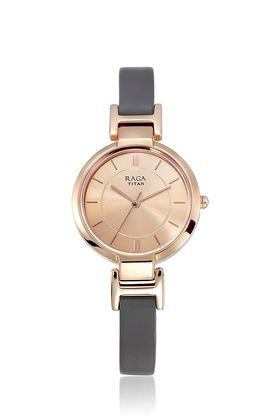 Womens Rose Gold Dial Analogue Watch - 2608WL01
