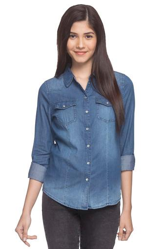 ONLY -  Crown Blue Shirts - Main