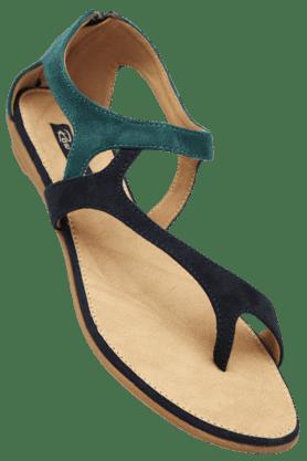 RAW HIDEWomens Daily Wear Zipper Closure Flat Sandal