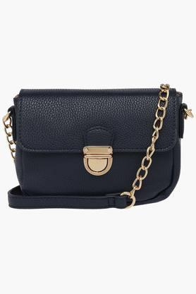 CAPRESE Womens Metallic Lock Closure Slingbag