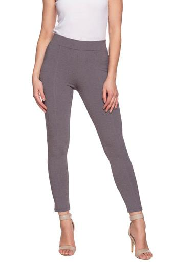 FRATINI WOMAN -  Grey Melange Jeans & Leggings - Main