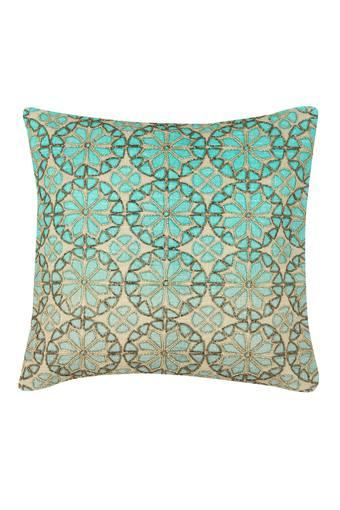 Square Round Embellished Cushion Cover