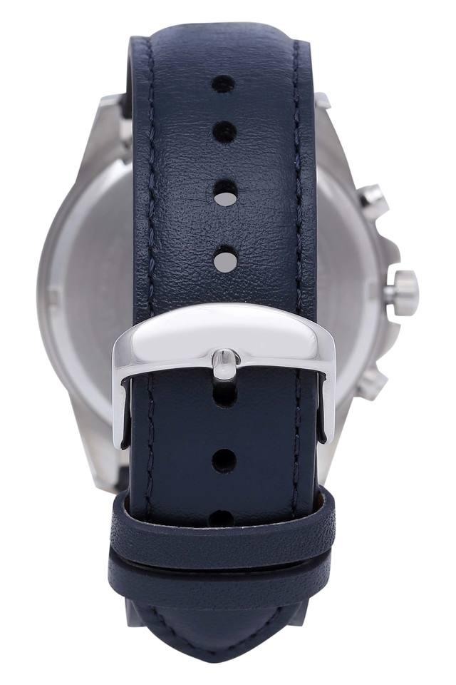 Unisex Edifice Blue Dial Leather Chronograph Watch - EFV-570L-2BV