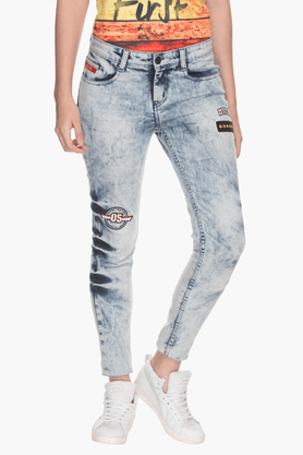 Womens Embellished Jeans