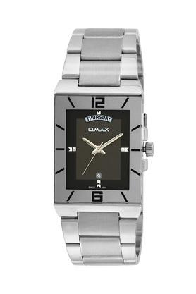 Mens Omax Masterpiece Black Dial Stainless Steel Analogue Watch - FA9-SS395