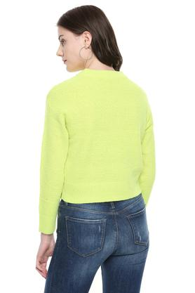 Womens Round Neck Knitted Sweater