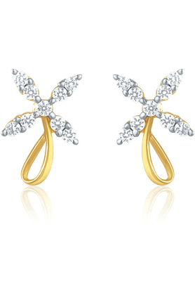 MAHI Mahi Gold Plated Flower Shape Stud Earring With CZ For Women ER1191430G