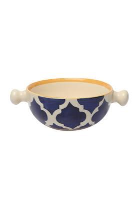 Round Printed Moroccan Snack Bowl